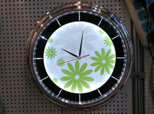 Luxury Led wall clock OEM Support