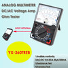 YX-360TREB Analog Multimeter DC/AC Voltage Amp Ohm Electrical Tester Multifuntion Measurer 360 TREB