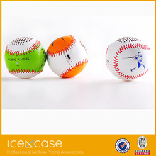 Hand-crafted Baseball shaped music mini portablel wireless bluetooth speaker with build-in lithium battery