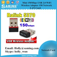 3G dongle Mini USB 150Mbps WiFi Wireless Adapter 150 Network LAN Card 802.11 ngb REALTEK 5370 fit for computer and networking