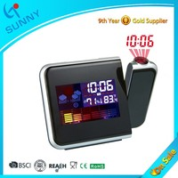 Sunny Projection Weather Station Projector Calendar Alarm Clock