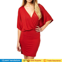 women's clothing v-neck fashion evening western party wear dresses