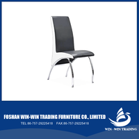 wbwinwin PU+hardware foot dinning chair Dining Room Furniture stainless steel chair China manufacturer D8