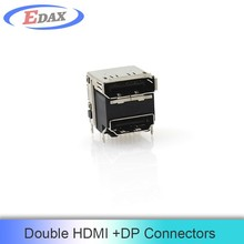 alibaba new product displayport and hdmi double connector China supplier