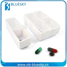 Detachable travel durable plastic pill box