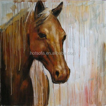 Colourful Animal Canvas Painting, Colourful Horse Canvas Painting, Decorative Canvas Painting