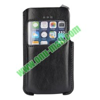 Magnetic Buckle Leather Pouch for iphone 5