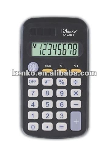 8 dígitos calculadora de bolsillo