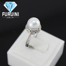 2015 new style 925 sterling silver freshwater pearl ring