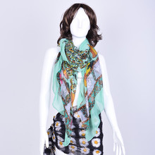 2014 wholesale digital printing polyester viscose scarf