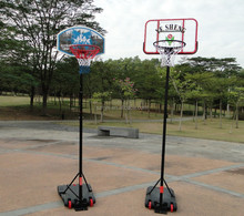 Hot sale adjustable plastic basketball stand,backboard and base