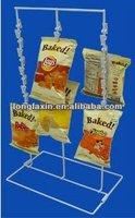 Custom metal Countertop clip strip display/Candy display rack