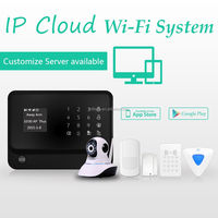Android+IOS APP home alarm GSM, intelligent wireless GSM home security alarm system & home alarm WiFi GSM GPRS network