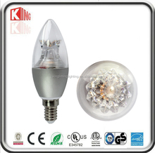 2700-6500K dimmable 5w 360 degree beam angle led candle