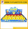 hot sell spongebob toy plastic flashing spinning top