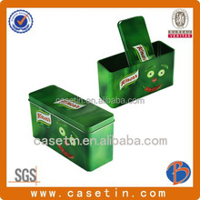 2015 new popular promotion metal food grade rectangular candy box