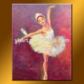 venta al por mayor hecho a mano bailarina de ballet de pinturas al óleo sobre lienzo