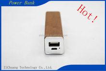 Manufacturer Wholesale Factory Price Colorful portable 2600mah Top selling 18650 Li Polymer Beautiful wood rectangular Power