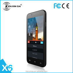 5.0'' high speed CPU quad- core double-sim cards slim bar style smart mobile phone