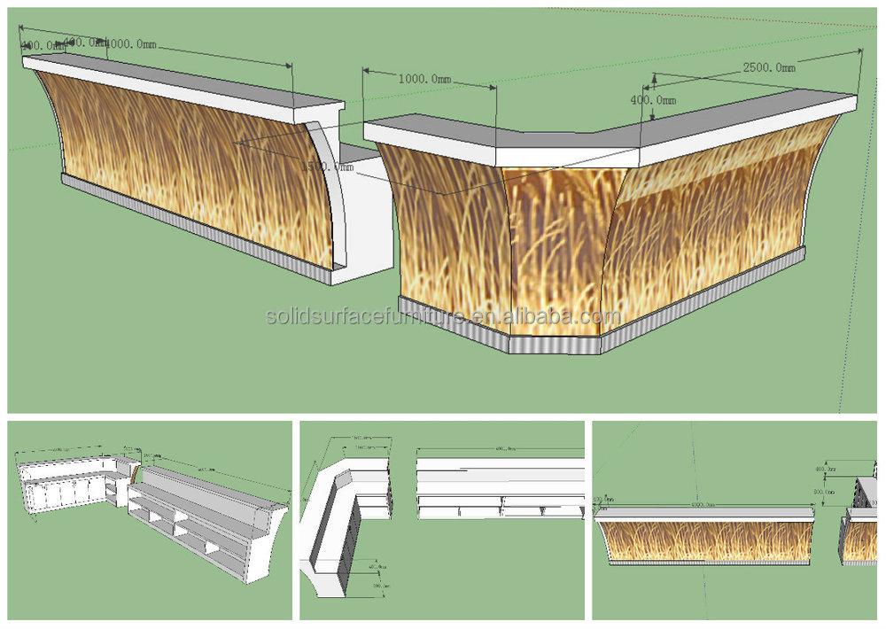 Tw Artificial Stone Service CounterJuice Bar Design