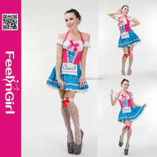 No moq fashion adult cheap carnival halloween latex french maid costume
