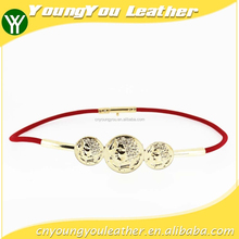 Fashion women Elastic belt girls dresses with shiny alloy brand for girls dresses in YiWu
