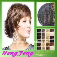 Kanekalon short silk top full lace wig for women short silk top full lace wig short silk top full lace wig