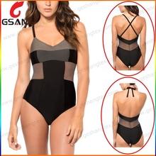 New design women sexy open one piece bikini women swimwear