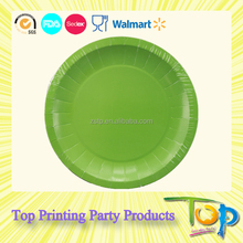 Wholesale Promotion Solid Color Printed Disposable Paper Plates
