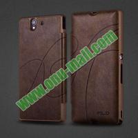 Flip Stand Leather case for sony xperia z c6603 l36h