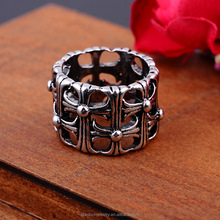 Europe and the United States fashion and personality zinc alloy gun color plated tombstone crusaders take punk rock romale ring/