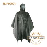 Waterproof Breathable Heavy Duty Long Hunting Army Green Rain Poncho