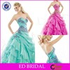 Charming Sweetheart Layered Organza Lace Applique Turquoise Quinceanera Dresses