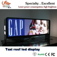 RGX 3G outdoor TAXI Top P5 full color led display Taxi Roof Video Led Display