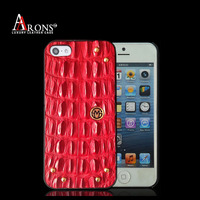 Genuine leather crocodile leather cover for iphone