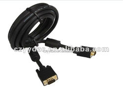 gold black vga rca cable