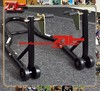 1500lbs Movable Paddock Stand Motorcycle Rear Front Wheel Stand For Motorcycle Repair