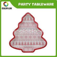christmas tree party tableware/disposable paper plate