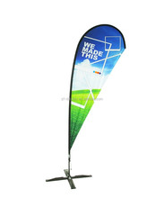 Knitted switchback events/promotion fiberglass flag poles