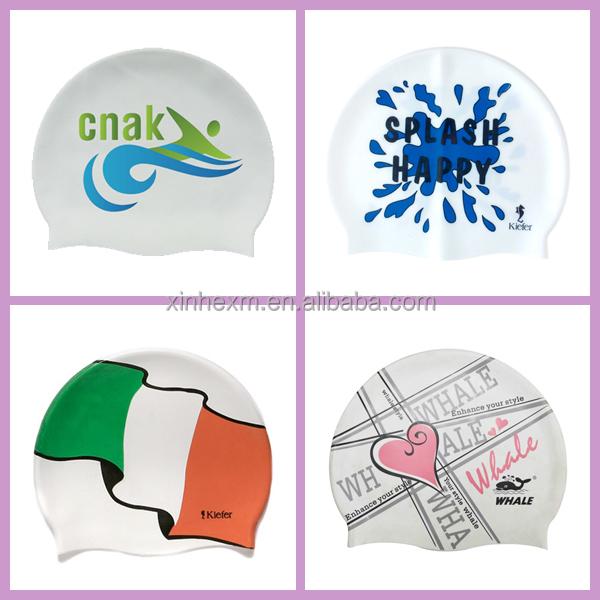 durable silicone customized swim cap