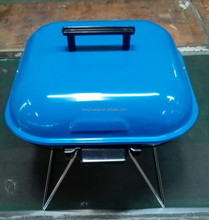 """14"""" X14"""" square portable BBQ GRILL with wire legs"""