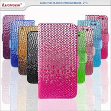 2015 New Fashion Acrylic Diamond Leather Case for Iphone