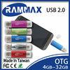Made in Taiwan otg usb flash drive 4-32GB