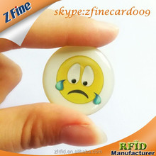 Round Mini Cute Crystal Epoxy Smart Expression Souvenir Cards