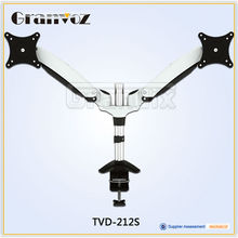 Adjustable mechanical spring vertical dual monitor stand