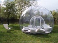 Shanghai camping Inflatable clear air dome tent inflatable lawn dome tent
