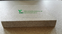 Vermiculite wall panel heat retaining building material