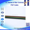 CC Series of Bar Colored POF Cable Light in weight Fiber Optic Plastic Optical Cable