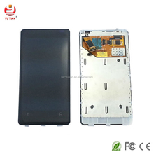 For Nokia N9 wholesale price china supplier fully lcd screen with frame