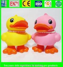 cute vinyl duck animal vinyl toy, oem vinyl duck toys, eco-friendly vinyl duck